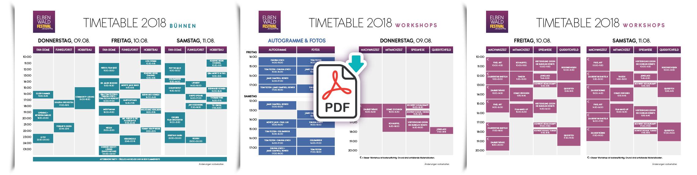 Elbenwald Festival - Programmplan: PDF Download