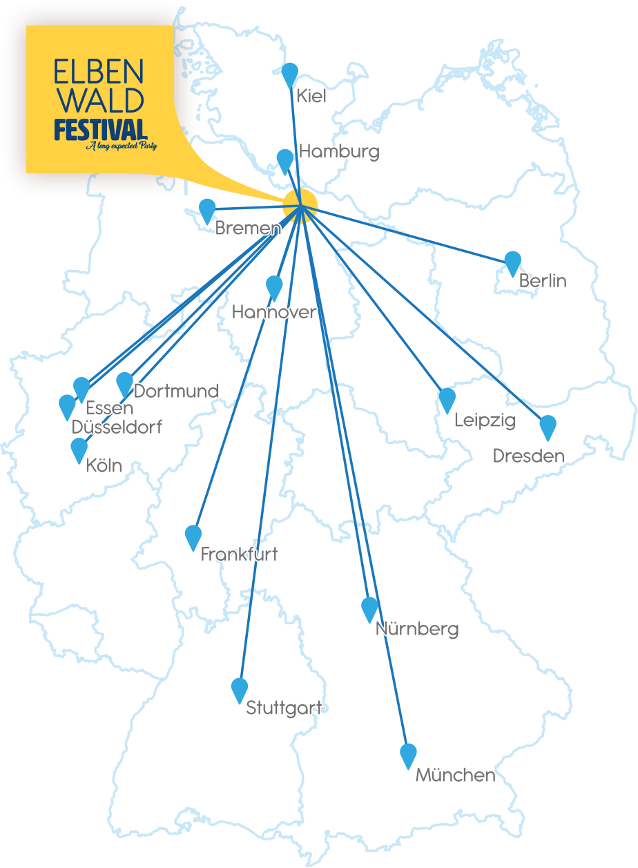 Community Busreise - Deutschland-Karte