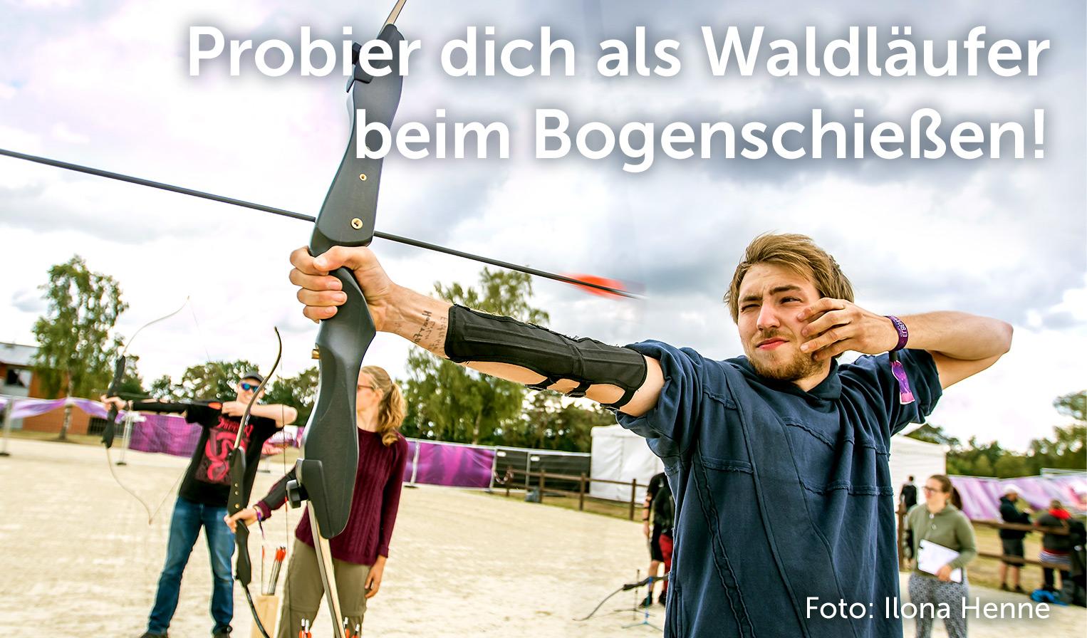 Workshop Bogenschießen, Foto: Ilona Henne
